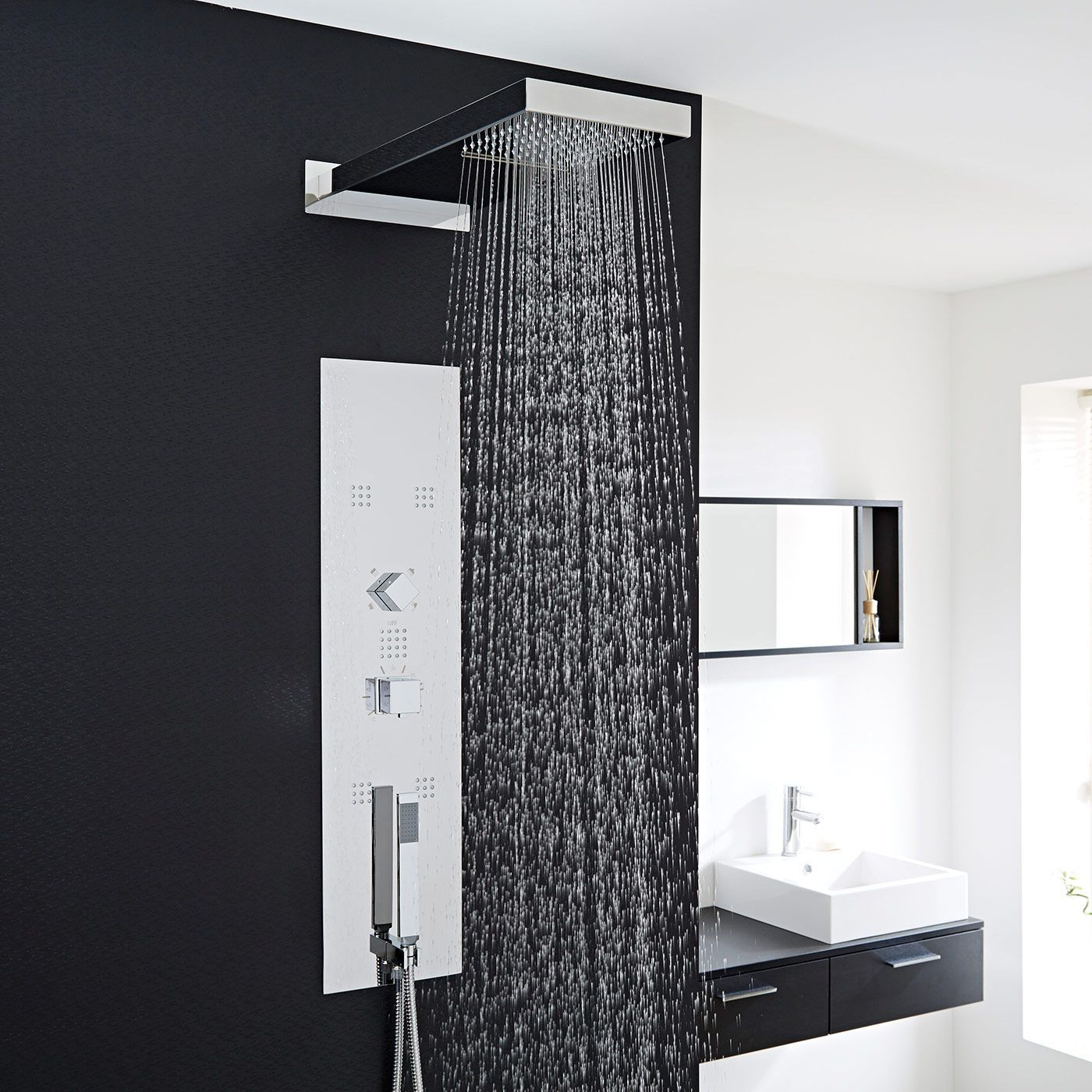 Interval Chrome Concealed Thermostatic