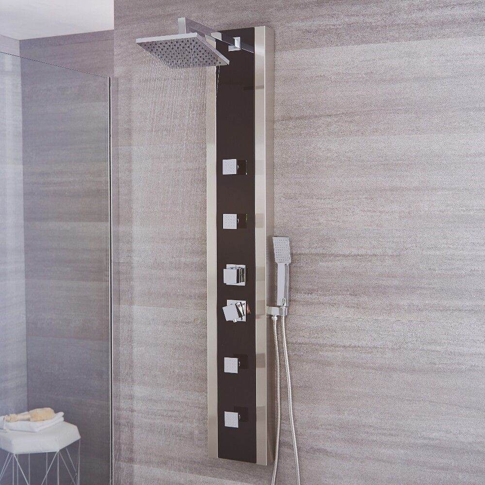 Black Stainless Steel Thermostatic