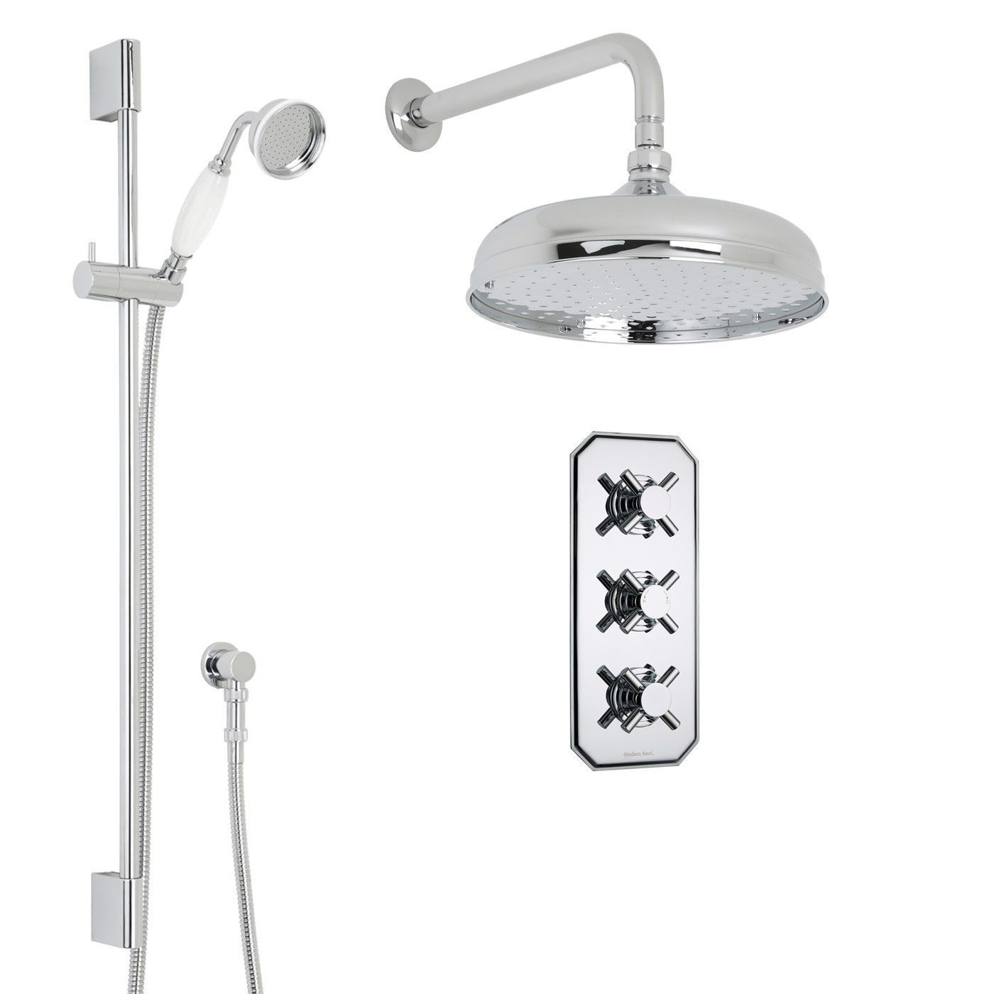 Kristal Thermostatic Shower System With
