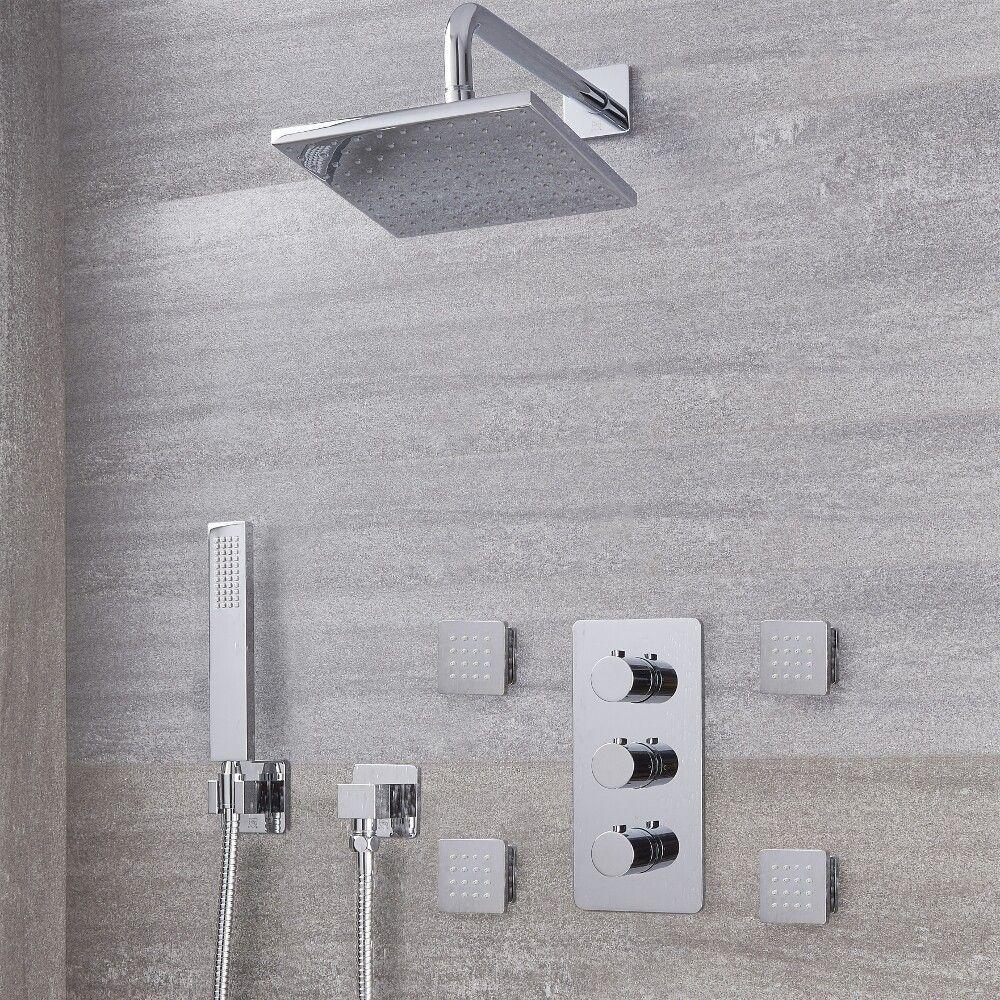 Arcadia Thermostatic Chrome Shower