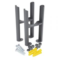 Anthracite Floor Mounting Kit for 3-Column Traditional Radiators