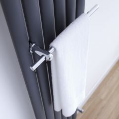 Chrome Towel Rail for Vertical Designer Radiators