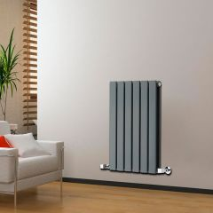 "Delta - Anthracite Horizontal Double Slim-Panel Designer Radiator - 25"" x 16.5"""