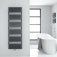 """Arch - Anthracite Hydronic Heated Towel Warmer - 60.25"""" x 19.75"""""""