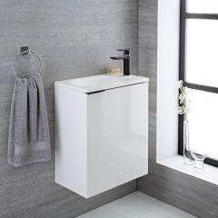 Randwick - 20'' White Wall-Mount Bathroom Vanity