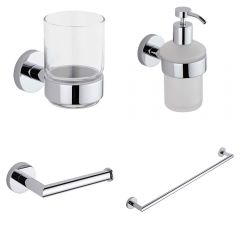 Prise Chrome 4-Piece Bathroom Accessory Set