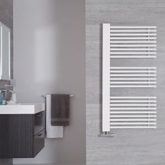 "Bosa - Mineral White Hydronic Designer Towel Warmer - 46.75"" x 23.5"""