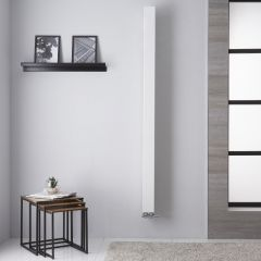 "One - White Hydronic Designer Radiator - 70.75"" x 4"""