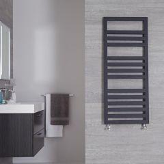 "Firenze - Anthracite Hydronic Designer Towel Warmer - 47.25"" x 19.75"""
