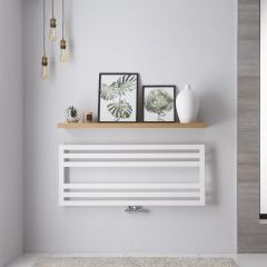 "Firenze - White Hydronic Designer Towel Warmer - 19.75"" x 47.25"""