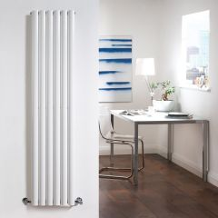 "Revive - White Vertical Single-Panel Designer Radiator - 63"" x 14"""
