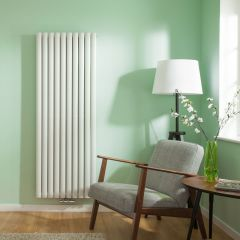 "Revive Centrix - White Vertical Double-Panel Designer Radiator - 63"" x 23.25"""
