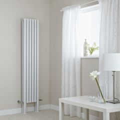 "Revive Plus - White Vertical Double-Panel Designer Radiator - 70.75"" x 14"""