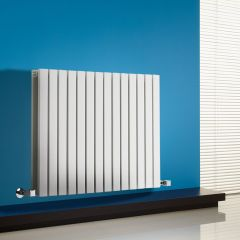 "Sloane - White Horizontal Double Flat-Panel Designer Radiator - 25"" x 32.75"""