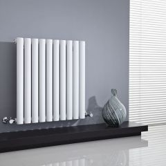 "Revive - White Horizontal Single-Panel Designer Radiator - 25"" x 23.5"""