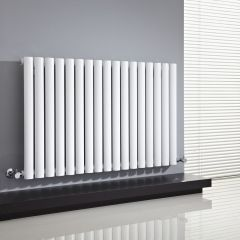 "Revive - White Horizontal Single-Panel Designer Radiator - 25"" x 39.25"""
