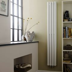"Revive - White Vertical Double-Panel Designer Radiator - 70.75"" x 9.25"""