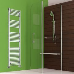 "Etna - Hydronic Chrome Heated Towel Warmer - 70.75"" x 19.75"""