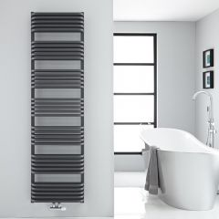 "Arch - Anthracite Hydronic Heated Towel Warmer - 70.75"" x 19.75"""