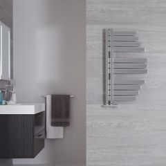 "Lazio - Chrome Hydronic Designer Towel Warmer - 31.5"" x 18.25"""