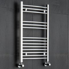 "Linosa - Hydronic Chrome Heated Towel Warmer - 31.5"" x 19.75"""