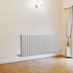 "Revive - White Horizontal Single-Panel Designer Radiator - 25"" x 55.5"""