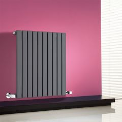"Sloane - Anthracite Horizontal Single Flat-Panel Designer Radiator - 25"" x 23.5"""