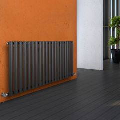 "Revive - Anthracite Horizontal Single-Panel Designer Radiator - 25"" x 46.5"""