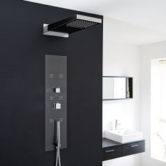 Interval Concealed Thermostatic Shower Panel with Head