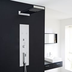 Interval Chrome Concealed Thermostatic Shower Panel with Head