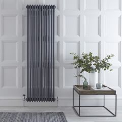 "Regent - Anthracite Vertical 3-Column Traditional Cast-Iron Style Radiator - 70.75"" x 22.25"""