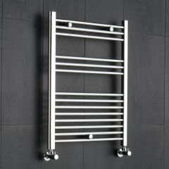 "Linosa - Chrome Hydronic Heated Towel Warmer - 31.5"" x 19.75"""