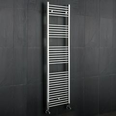 "Linosa - Hydronic Chrome Heated Towel Warmer - 70.75"" x 19.75"""