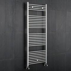 "Linosa - Hydronic Chrome Heated Towel Warmer - 47.25"" x 19.75"""