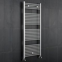 "Linosa - Hydronic Chrome Heated Towel Warmer - 47.25"" x 23.5"""