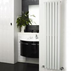"""Sloane - White Vertical Single Flat-Panel Designer Radiator - 63"""" x 14"""""""
