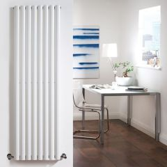 "Revive - White Vertical Single-Panel Designer Radiator - 63"" x 18.5"""