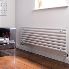 "Revive - White Horizontal Single-Panel Designer Radiator - 18.5"" x 63"""