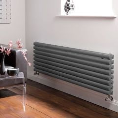 "Revive - Anthracite Horizontal Double-Panel Designer Radiator - 18.5"" x 70"""
