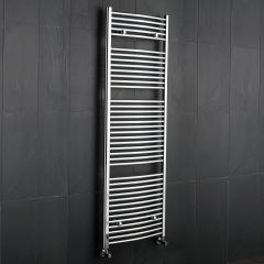 "Etna - Hydronic Chrome Heated Towel Warmer - 70.75"" x 23.5"""