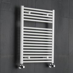 "Etna - Hydronic White Heated Towel Warmer - 31.5"" x 23.5"""