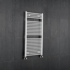 "Etna - Hydronic White Heated Towel Warmer - 47.25"" x 23.5"""