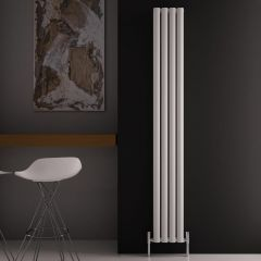 "Revive Air - White Aluminum Vertical Double-Panel Designer Radiator - 70.75"" x 9"""