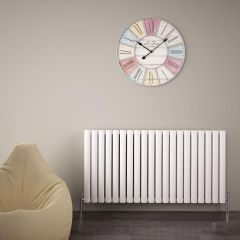 "Revive Air - White Aluminum Horizontal Double-Panel Designer Radiator - 23.5"" x 46.75"""