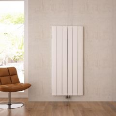 """Aurora - White Aluminum Vertical Designer Radiator - 63"""" x 22.25"""""""