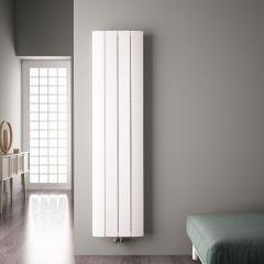 """Aurora - White Aluminum Vertical Designer Radiator - 70.75"""" x 14.75"""""""