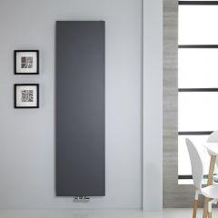 "Vivara - Anthracite Vertical Flat-Panel Designer Radiator - 70.75"" x 19.75"""