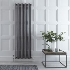 Regent - Raw Metal Lacquered Vertical 3-Column Traditional Cast-Iron Style Radiator - 70.75'' x 22''