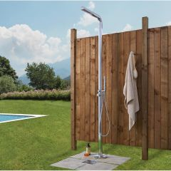 Lugo - Freestanding Outdoor Shower with Handshower - Chrome