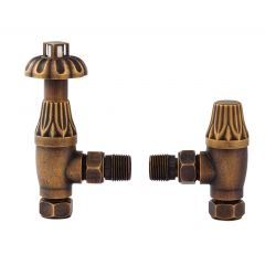 Antique Brass Thermostatic Radiator Valve Pack